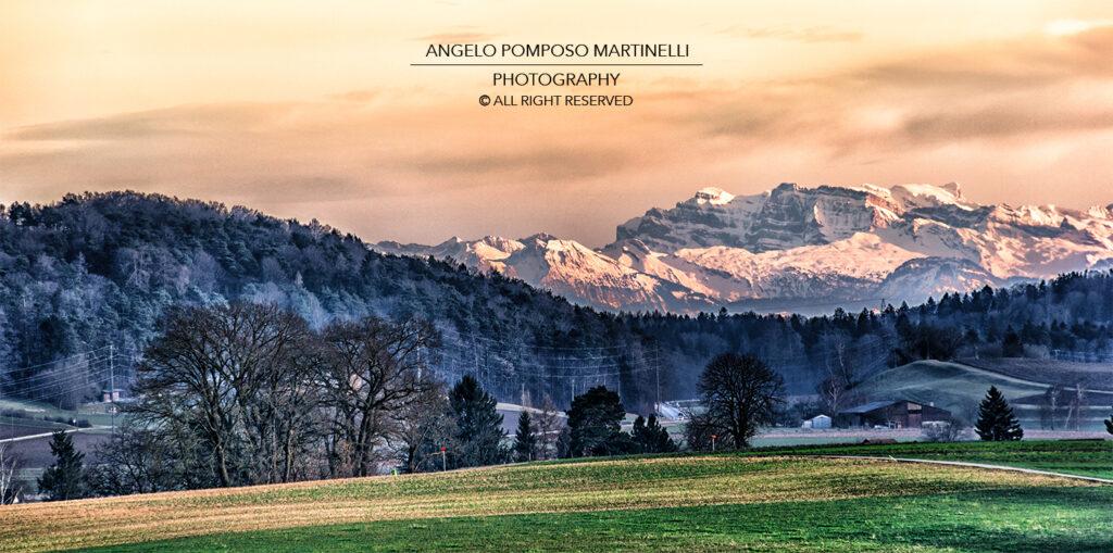 Kantn Zürich - Tramonto sulle Alpi