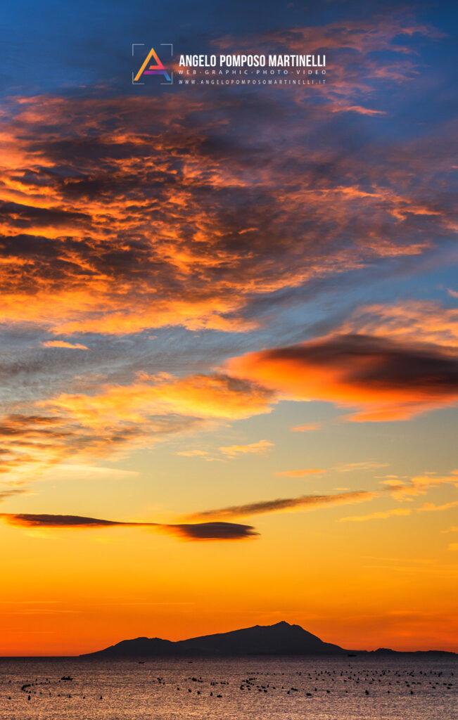 Sunset on Ischia Island