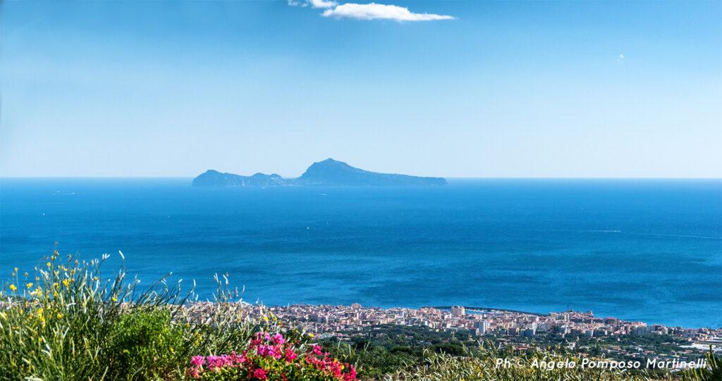 Capri island from Mount Vesuvius